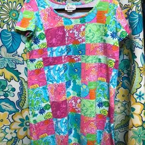 NWT Lily Pulitzer multi party patch dress